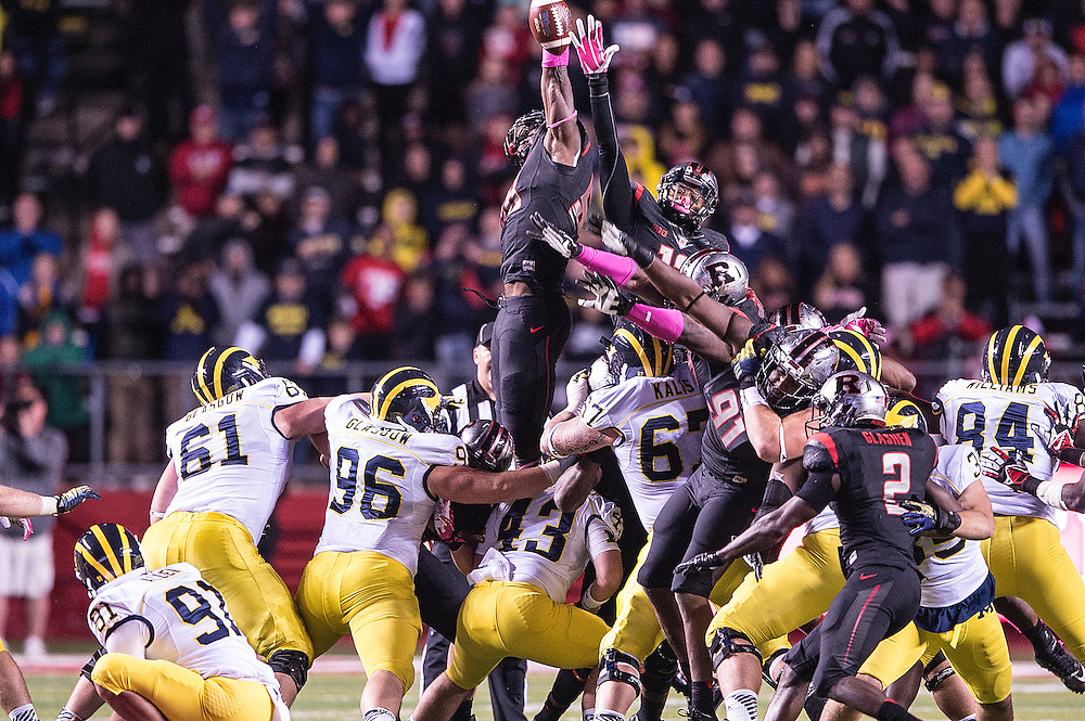 The Rutgers Scarlet Knights football team takes on the Michigan Wolverines at High Point Solutions Stadium on Saturday night, October 4, 2014.<br />