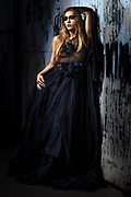 Fashion model Brenna Smith in a couture dress by Nick Nguyen of Mysterious by NPN, by Gerard Harrison, Image Theory Photoworks.