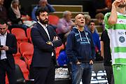 Edoardo Casalone, Stefano Sardara<br /> Filou Ostenda - Banco di Sardegna Dinamo Sassari<br /> FIBA BCL Basketball Champions League 2018-20<br /> Ostenda, 07/01/2020<br /> Foto L.Canu / Ciamillo-Castoria