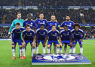 The Chelsea team line up before the UEFA Champions League match at Stamford Bridge, London<br /> Picture by Alan Stanford/Focus Images Ltd +44 7915 056117<br /> 04/11/2015