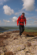 Walker (Alan Hinks) on Ullock Pike, Bassenthwaite, Lake District, Cumbria, Uk