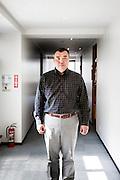 Tokyo, April 10 2014 - Portrait of Koichi NAKANO, professor of political science at Sophia University, at his office.