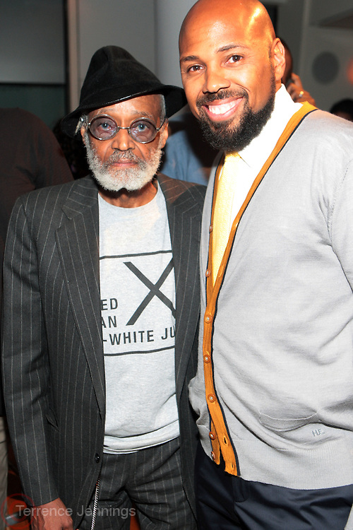 27 April 2011- New York,  NY- l to r: Melvin Va Peebles and Brickson Diamond at The Blackhouse Foundation celebrates Tribeca Film Institute's 2011 TAA Participants w/ Oscar Winner Geoffrey Fletcher held the Helen Mills Event Space on April 27, 2011 in New York City. Photo Credit: Terrence Jennings