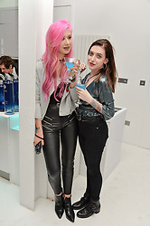 AMY VALENTINE and LEANNE WOODFULL at a London Fashion Week Party hosted by rewardStyle at IceTank, 5 Grape Street, London on 21st February 2016.