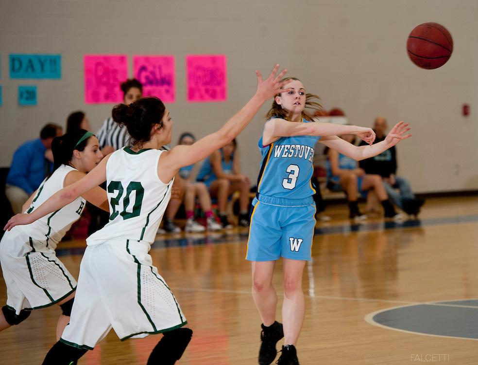 Westover School-Feb 8, 2014- Westover Varsity Basketball vs Hamden Hall. (Photo by Robert Falcetti)