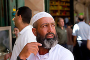 Israel, Jerusalem, A Muslim priest in the Muslim quarter of the old city