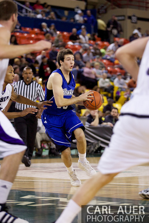 November 27th, 2010:  Anchorage, Alaska - Drake Bulldog guard Frank Wiseler (13) drives in the Bulldog's 81-82 loss to Weber State in the third place game of the Great Alaska Shootout.