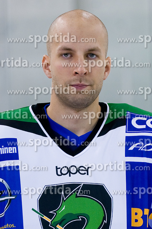 Kevin Kantee, member of HDD Tilia Olimpija ice-hockey team for season 2010/2011 at official photo shooting in Hala Tivoli, Ljubljana, on September 1, 2010, in Ljubljana, Slovenia. (Photo by Matic Klansek Velej / Sportida)
