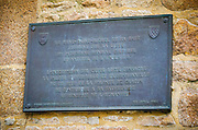 UNESCO World Heritage plaque, Mont Saint-Michel, Normandy, France