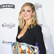 Kate Upton at the 2017 Sports Illustrated Swimsuit issue cover launch in New York City.