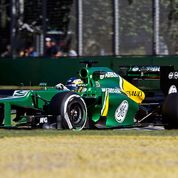 F1 Australian Grand Prix 15 March 2013 Practice Session 2.Practice Session 2. Charles Pic Caterham Turn 6.(c) MILOS LEKOVIC | StockPix.eu