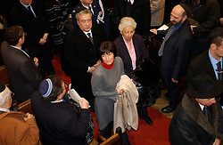BRUSSELS, BELGIUM - JAN-30-2005 -  A memorial service is held at the Grand Synagogue in Brussels in remembrance of the liberation of the notorious Nazi concentration camp at Auschwitz. (REPORTERS © JOCK FISTICK)..Laurette Onkelinx , Belgian Minister of Justice