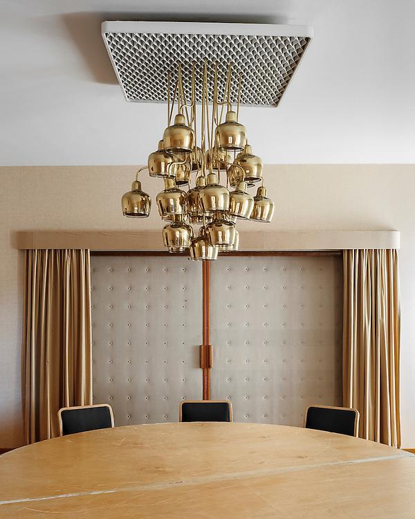 Restaurant Savoy cabinet designed by Alvar Aalto in Helsinki, Finland
