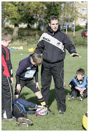 Saracens Master class coaching session at Hemel Hempstead RFC