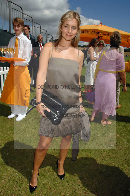 Singer LOUISE REDNAPP at the final of the Veuve Clicquot Gold Cup 2007 at Cowdray Park, West Sussex on 22nd July 2007.<br />