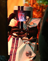 Jeremy Clarkson spotted driving around Mayfair in strange looking car, filming a series of Top Gear in London. At one point the Top Gear presenter stopped of at a Turkish restaurant where he puffed on a shisha pipe where his helmet filled with smoke and then drives off... UK. 11/12/2012<br />BYLINE MUST READ : JAMESY/GOTCHA IMAGES<br /><br />Copyright by © Gotcha Images Ltd. All rights reserved.<br />Usage of this image is conditional upon the acceptance <br />of Gotcha Images Ltd, terms and conditions available at<br />www.gotchaimages.com