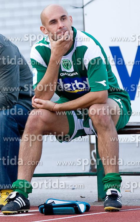 Senad Tiganj of Olimpija  at football match between NK Olimpija vs Hit Gorica in 11th Round of Prva liga 2009 - 2010,  on September 27, 2009, in ZSD Ljubljana, Ljubljana, Slovenia.  (Photo by Vid Ponikvar / Sportida)