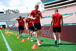 LOS ANGELES, USA - Sunday, May 27, 2018: Wales' Andy King during a training session at the Rose Bowl ahead of the International friendly match against Mexico. (Pic by David Rawcliffe/Propaganda)