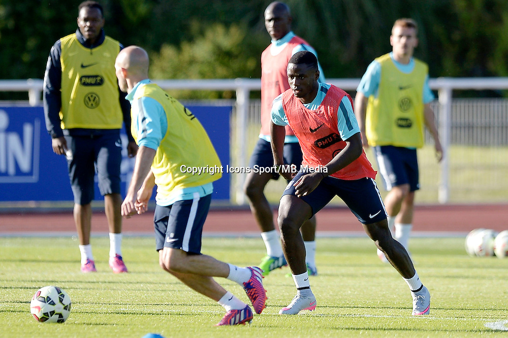 Paul Georges Ntep - 01.06.2015 - Entrainement -Equipe de France -Clairefontaine<br /> Photo : Andre Ferreira / Icon Sport