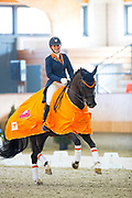 Esmee Donkers - Chaina<br /> KNHS Indoorkampioenschappen 2018<br /> © DigiShots