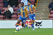 Larnell Cole of Shrewsbury Town during the Sky Bet League 1 match between Scunthorpe United and Shrewsbury Town at Glanford Park, Scunthorpe, England on 17 October 2015. Photo by Ian Lyall.