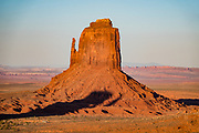 East Mitten at sunset in Monument Valley Navajo Tribal Park, Arizona, USA.