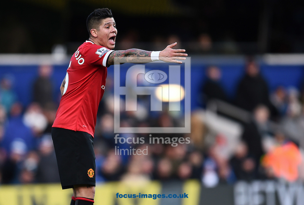 Marcos Rojo of Manchester United during the Barclays Premier League match against Queens Park Rangers at the Loftus Road Stadium, London<br /> Picture by Andrew Timms/Focus Images Ltd +44 7917 236526<br /> 17/01/2015