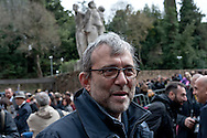 Commemoration for the 72th anniversary of the massacre  Fosse Ardeatine, made in Rome by the occupation troops of Nazi Germany, the  March 24, 1944, were killed, 335 civilians and Italian soldiers. Pictured: The candidate for mayor of Rome Roberto Giachetti (Democratic Party).       Rome Italy. March 23, 2016.