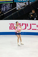 KELOWNA, BC - OCTOBER 26: Korean figure skater Young You skates off the ice during ladies long program of Skate Canada International held at Prospera Place on October 26, 2019 in Kelowna, Canada. (Photo by Marissa Baecker/Shoot the Breeze)