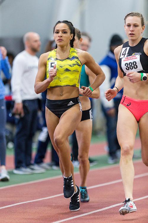 Brenna Detra, BAA, womens 800<br /> BU John Terrier Classic <br /> Indoor Track & Field Meet