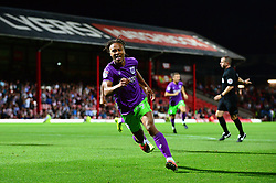 Bobby Reid of Bristol City celebrates scoring a goal in the last minute  - Mandatory by-line: Dougie Allward/JMP - 15/08/2017 - FOOTBALL - Griffin Park - Brentford, England - Brentford v Bristol City - Sky Bet Championship