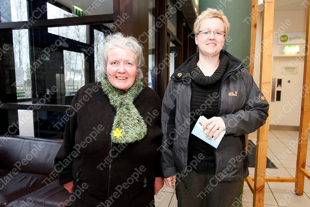 01/04/11<br /> Marian Canny and Cornelia Michels from Ennis pictured at &quot;The apple didn't fall far from the tree&quot;, a celebration of trad music from Clare families through the generations which took place at Glor Ennis.<br /> Picture: Don Moloney / Press 22
