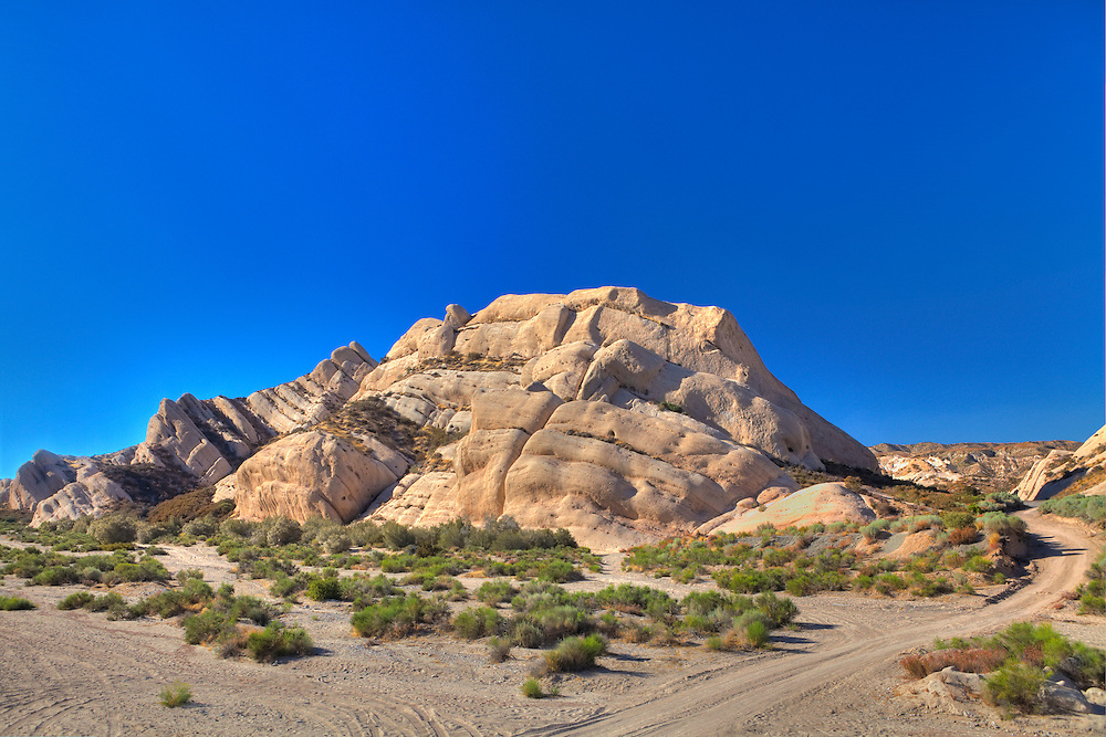 Mormon Rocks And Dirt Road - North View - HDR
