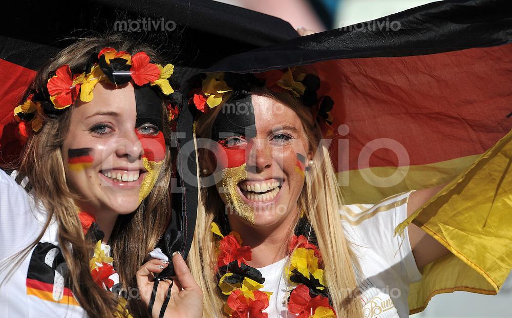 FUSSBALL WM 2010   ACHTELFINALE      27.06.2010 Deutschland - England Deutschland Fan