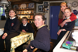 The Seabrook family at their home in Kimbolton, Cambridgeshire..(L to R) Elaine, Georgie 9, Mark, (back row) Scott 11, Joanna 13, May 23, 2000. Photo by Andrew Parsons / i-images..