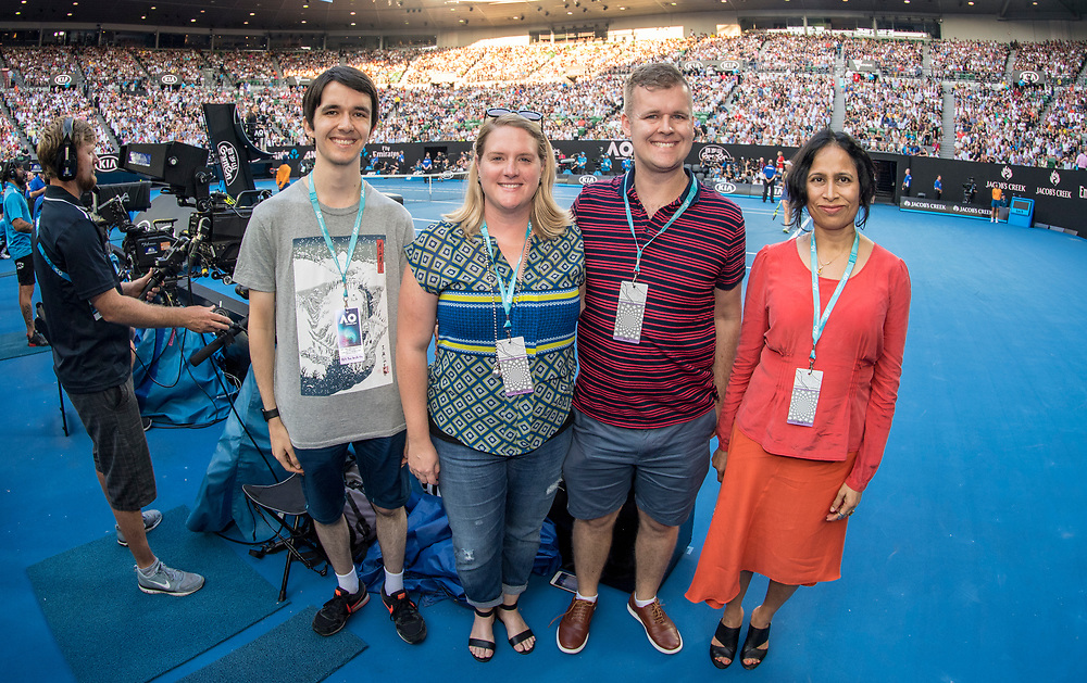 Hospitality experience ahead of the women's singles championship match during the 2018 Australian Open on day 13 in Melbourne, Australia on Saturday night January 27, 2018.<br /> (Ben Solomon/Tennis Australia)