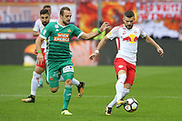 SALZBURG,AUSTRIA,10.SEP.17 - SOCCER - tipico Bundesliga, Red Bull Salzburg vs SK Rapid Wien. Image shows Veton Berisha (Rapid) and Valon Berisha (RBS). Keywords: Wien Energie. Photo: <br /> Norway only