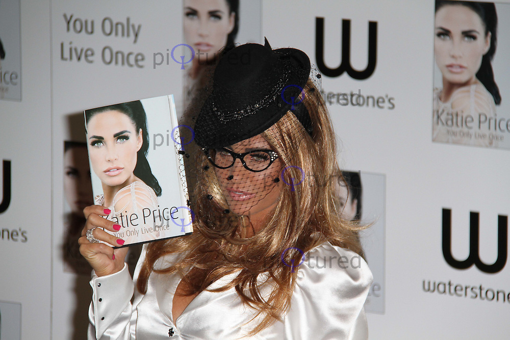 Katie Price - You Only Live Once - Book Launch, Waterstone's Book Store, Piccadilly, London, UK, 28 October 2010: For piQtured Sales contact: Ian@Piqtured.com +44(0)791 626 2580 (picture by Richard Goldschmidt)