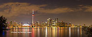 60912-00320 Toronto skyline at night from Toronto Island Park Toronto, Ontario Canada