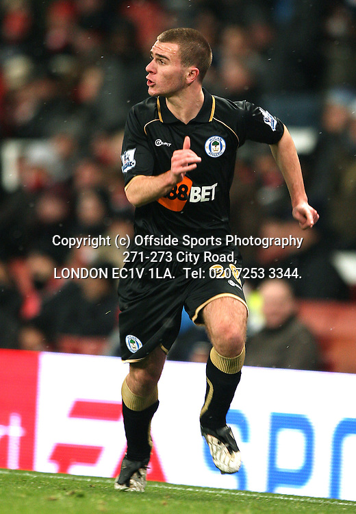 30/11/2010 Carling Cup football. Arsenal v Wigan Athletic.<br /> Callum McManaman.<br /> Photo: Mark Leech.