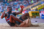 Jonathan ILORI competes in the Men's Long Jump during the Muller British Athletics Championships at Alexander Stadium, Birmingham, United Kingdom on 25 August 2019.