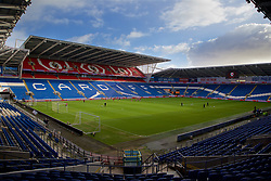CARDIFF, WALES - Thursday, November 23, 2017: Wales players during a training session ahead of the FIFA Women's World Cup 2019 Qualifying Round Group 1 match between Wales and Kazakhstan at the Cardiff City Stadium. (Pic by David Rawcliffe/Propaganda)