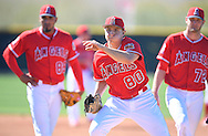 Left-handed pitcher Kevin Grendell during workouts at the Angels' Spring Training facility in Tempe, AZ on Wednesday, February 22, 2017. (Photo by Kevin Sullivan, Orange County Register/SCNG)