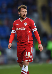 Cardiff City's Adam Le Fondre - Photo mandatory by-line: Paul Knight/JMP - Mobile: 07966 386802 - 28/12/2014 - SPORT - Football - Cardiff - Cardiff City Stadium - Cardiff City v Watford - Sky Bet Championship