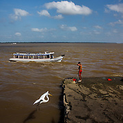 Image of Brazil Belem, Brazil. Amazon river.