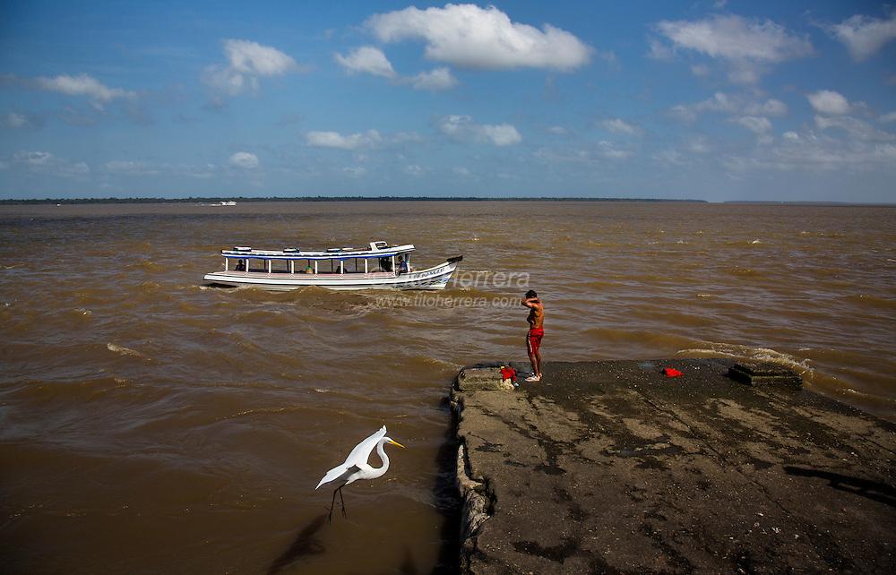 Image of Brazil Belem, Brazil. Amazon river.