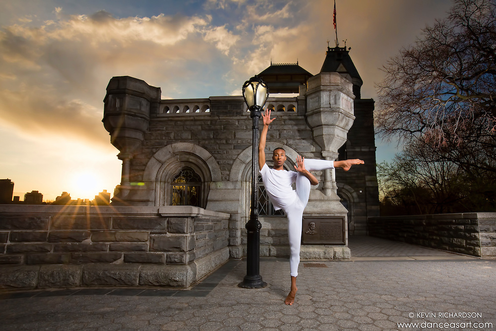 Dance As Art The New York City Dance Photography Project- Belvedere Castle Central Park with dancer Daniel White