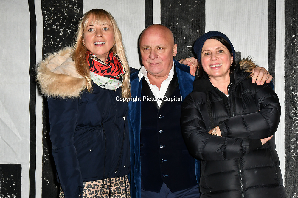 Sara Cox, Aldo Zilli and Sadie Frost join Sleep Out fundraiser to help homeless young people at Greenwich Peninsula Quay on 15 November 2018, London, UK.