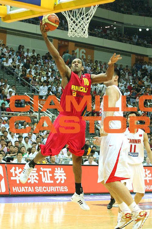 DESCRIZIONE : Nanjing Fiba Diamond Ball Men 2008 China Angola<br />GIOCATORE : Joaquim Gomes<br />SQUADRA : Angola<br />EVENTO : Fiba Diamond Ball Men 2008<br />GARA : China Angola<br />DATA : 29/07/2008 <br />CATEGORIA : Tiro<br />SPORT : Pallacanestro <br />AUTORE : Agenzia Ciamillo-Castoria/G.Ciamillo<br />Galleria : Nanjing Fiba Diamond Ball Men 2008 <br />Fotonotizia : Nanjing Fiba Diamond Ball Men 2008 China Angola<br />Predefinita :
