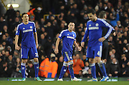 John Terry of Chelsea looks on after his team concede a fifth goal during the Barclays Premier League match between Tottenham Hotspur and Chelsea  at White Hart Lane, London<br /> Picture by Richard Blaxall/Focus Images Ltd +44 7853 364624<br /> 01/01/2015